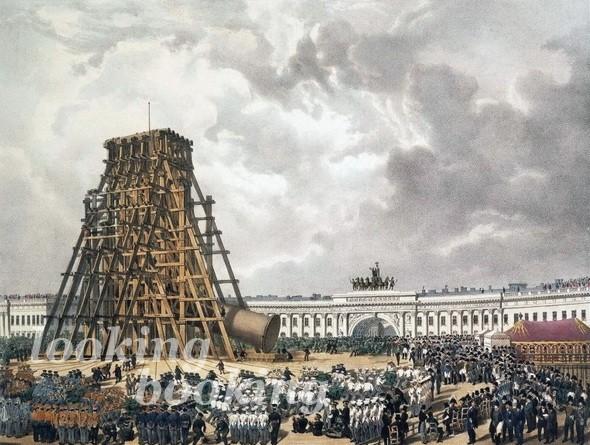 строительство александровской колонны