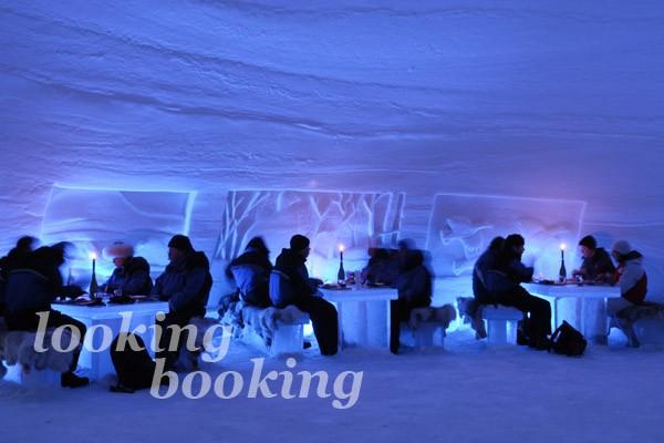Интерьер ледяного ресторана